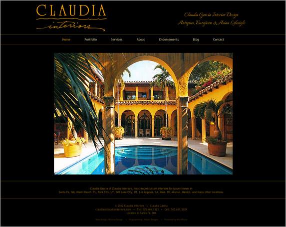 Claudia Garcia Interior Design New Website